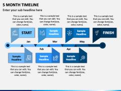 5 Month Timeline PPT Slide 1