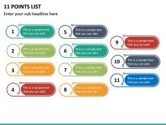 11 Points List PPT Slide 2
