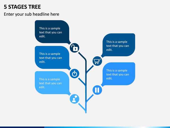 5 Stages Tree PPT Slide 1