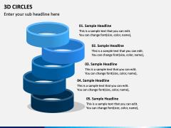 3D Circles PPT Slide 8