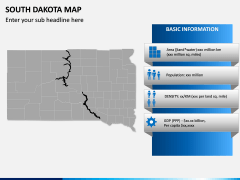 South Dakota Map PPT Slide 3