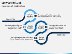 Curved Timeline PPT Slide 1