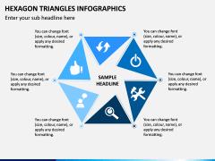 Hexagon Triangles Infographics PPT Slide 1