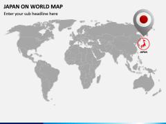 Japan on World Map PPT Slide 2