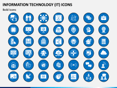 Information Technology (IT) Icons PPT Slide 11