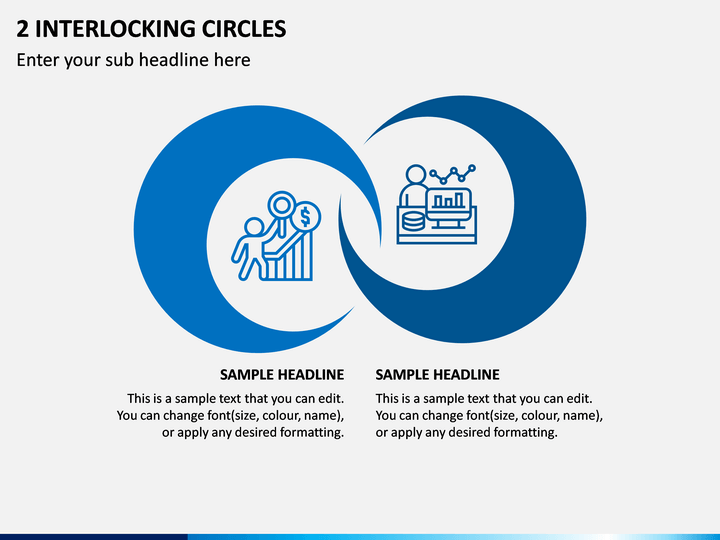 2 Interlocking Circles PPT Slide 1