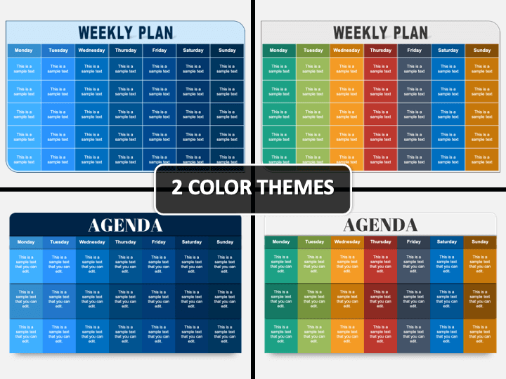 Weekly Plan PPT Cover Slide