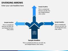 Diverging Arrows PPT Slide 7