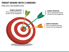 Target Board With 3 Arrows PPT Slide 2