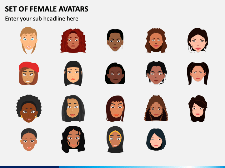Female Avatars PPT Slide 1