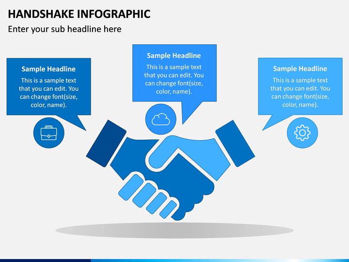 Handshake Infographic PowerPoint Template  SketchBubble