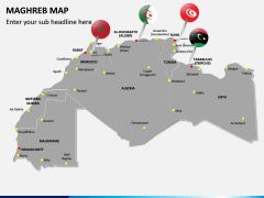 Maghreb Map PPT Slide 2