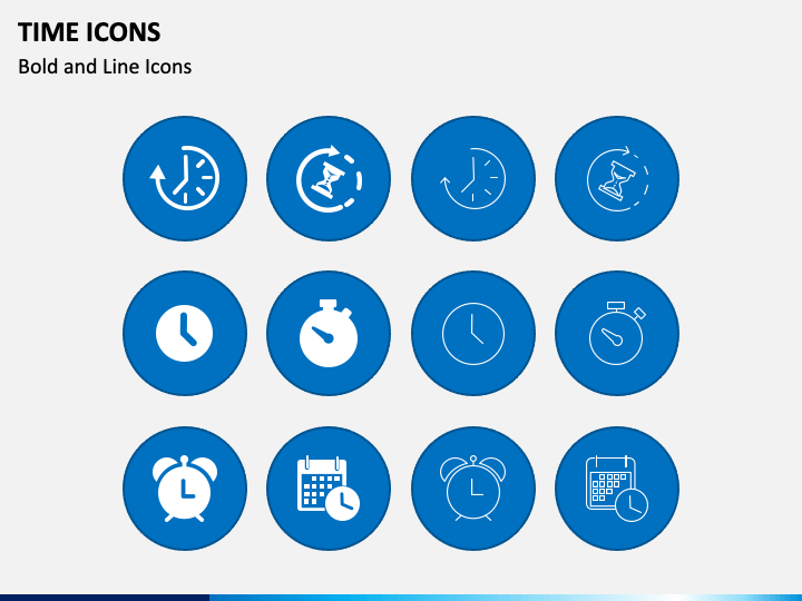 Time Icons PPT Slide 1