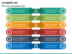 12 Points List PPT Slide 2