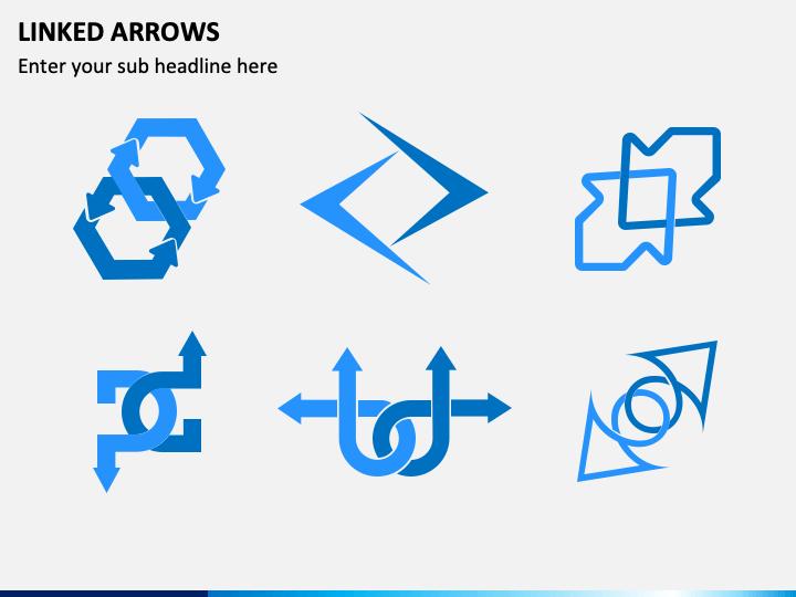 Linked Arrows PPT Slide 1