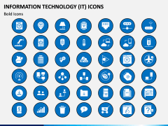 Information Technology (IT) Icons PPT Slide 12