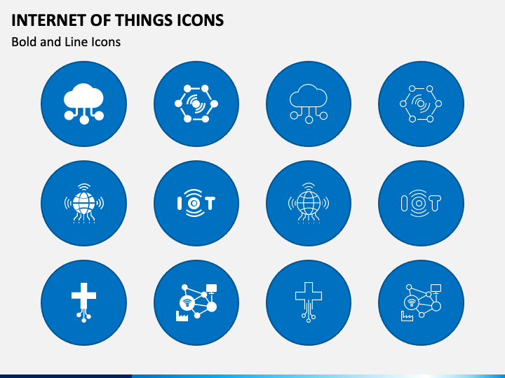 Internet of Things Icons PPT Slide 1