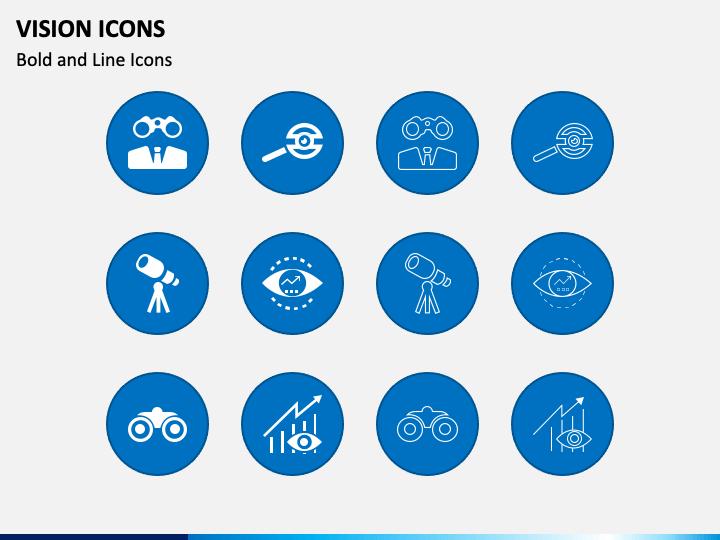 Vision Icons PPT Slide 1