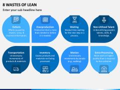 8 Wastes of Lean PPT Slide 1