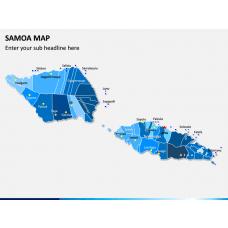 Samoa Map PPT Slide 1