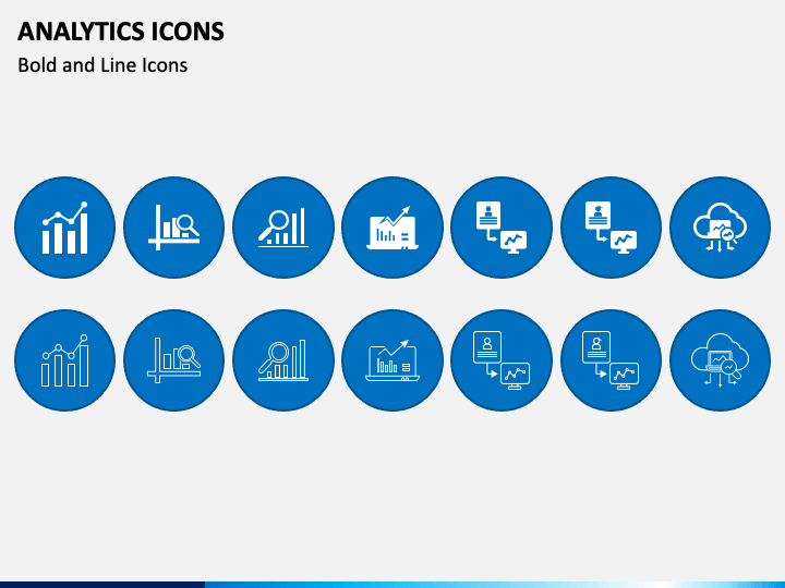 Analytics Icons PPT Slide 1