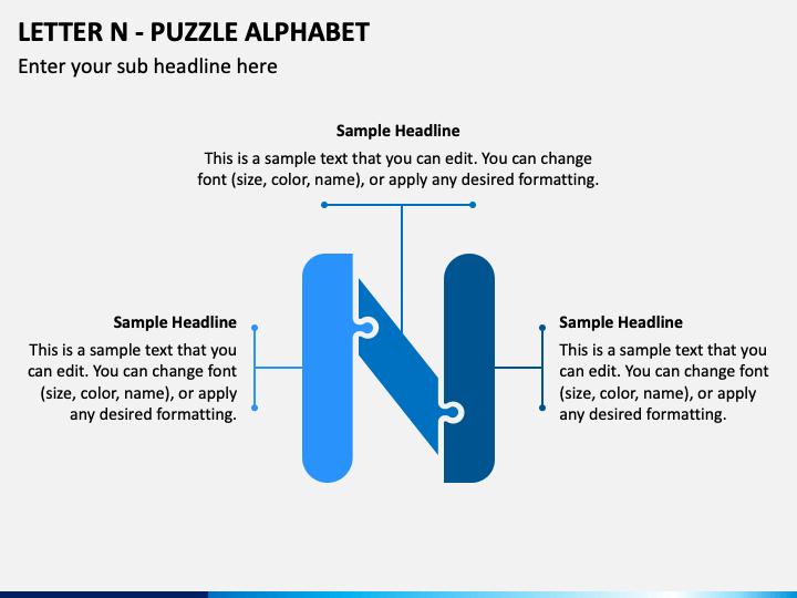 Letter N - Puzzle Alphabet PPT Slide 1