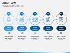 Linear Flow Infographics PPT Slide 6