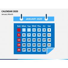 Calendar 2020 - Type 2 PPT Slide 1