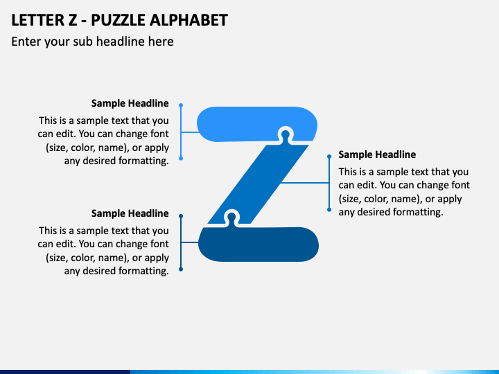 Letter Z - Puzzle Alphabet PPT Slide 1