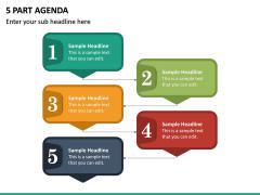 5 Part Agenda PPT Slide 2