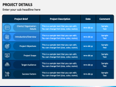 Project Details PPT Slide 1