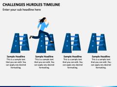 Challenges Hurdles Timeline PPT Slide 2
