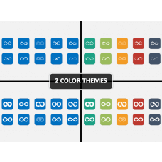 Infinity Icons PPT Cover Slide