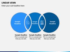 Linear Venn Diagram PPT Slide 1