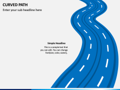 Curved Path PPT Slide 9