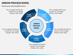 Arrow Process Wheel PPT Slide 10