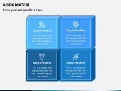 4 Box Matrix PPT Slide 1