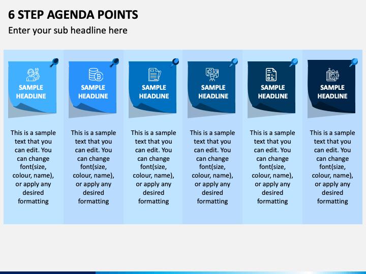 6 Step Agenda Points Slide 1