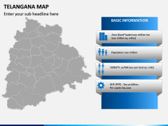 Telangana Map PPT Slide 3