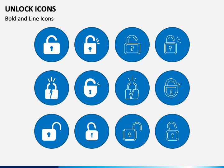Unlock Icons PPT Slide 1