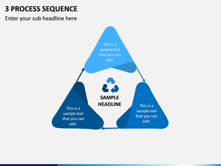 3 Process Sequence PPT Slide 1