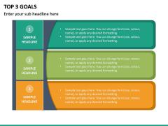 Top 3 Goals PPT Slide 2