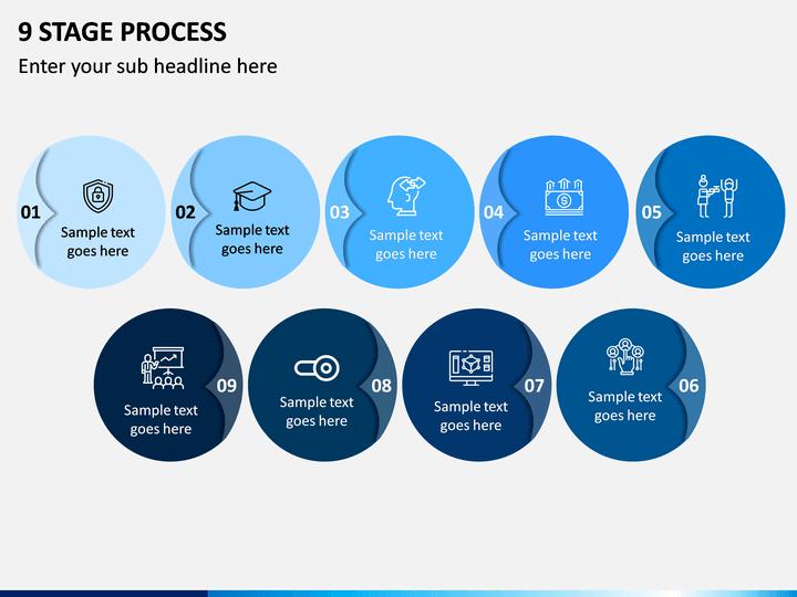 9 Stage Process PPT Slide 1