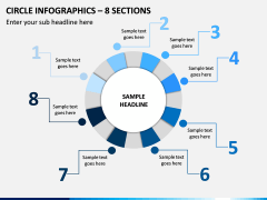 Circle Infographics – 8 Sections PPT Slide 1