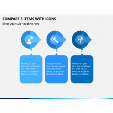 Compare 3 Items With Icons PPT Slide 1