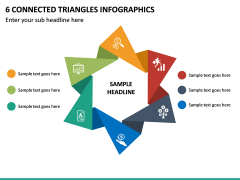 6 Connected Triangles Infographics PPT Slide 2
