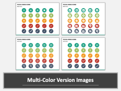 Tick and Cross Icons Multicolor Combined