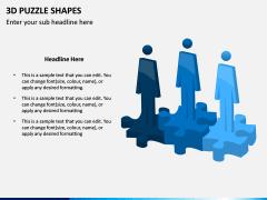 3D Puzzle Shapes PPT Slide 2