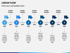 Linear Flow Infographics PPT Slide 4