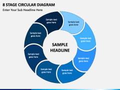 8 stage circular diagram free PPT slide 1